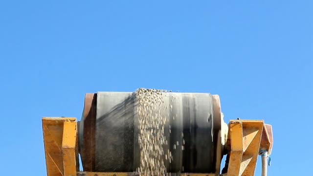 Sorting gravel enterprise is working video