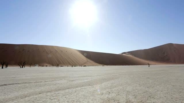 Sossusvlei in Namib desert , Namibia, Africa landscape video