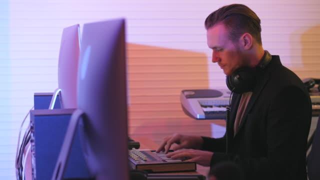 Sound Engineer Recording Music