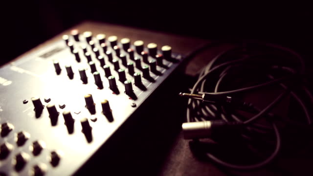 Sound mixer and cables video