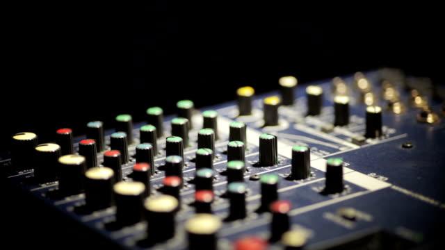 Sound mixer detail video