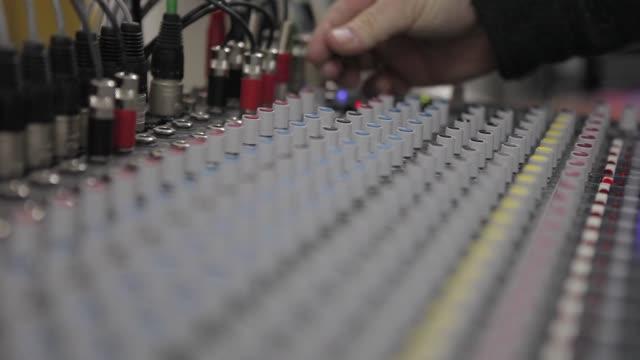 Sound music mixer control panel Sound music mixer control panel música stock videos & royalty-free footage