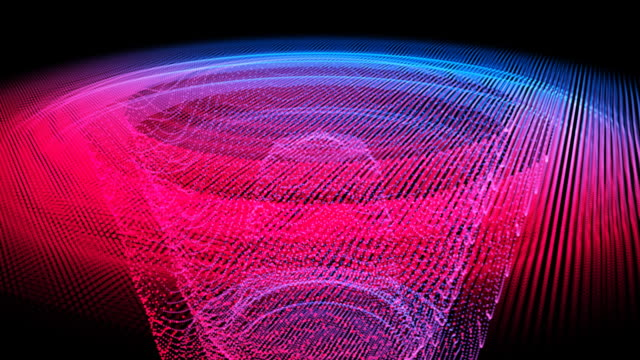 sound-reaktorbereich waveform-pulse - sound wave stock-videos und b-roll-filmmaterial