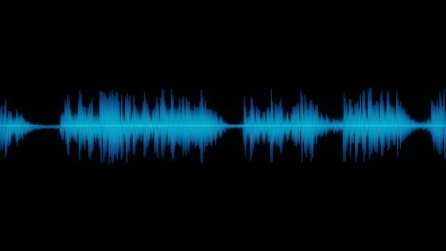 sound wave audio waveform / spectrum - machać filmów i materiałów b-roll
