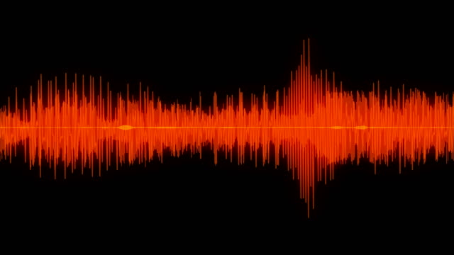 sound wave audio waveform / spectrum - hip hop video stock e b–roll