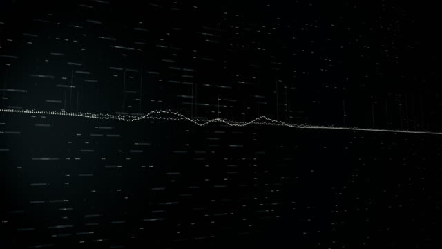 schallwelle simulation - sound wave stock-videos und b-roll-filmmaterial
