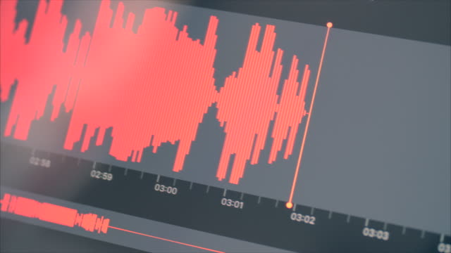 sound waveform 1.2 aufnahme audio dictaphone - lärm stock-videos und b-roll-filmmaterial