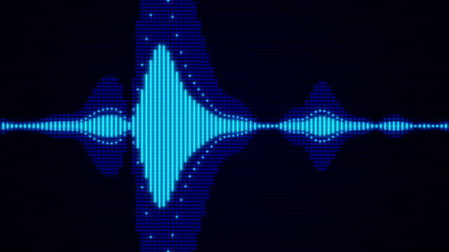 sound waves audio - sound wave stock-videos und b-roll-filmmaterial