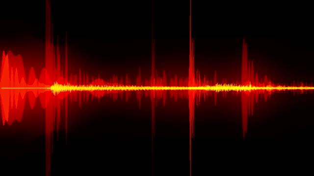 le onde sonore - sventolare la mano video stock e b–roll