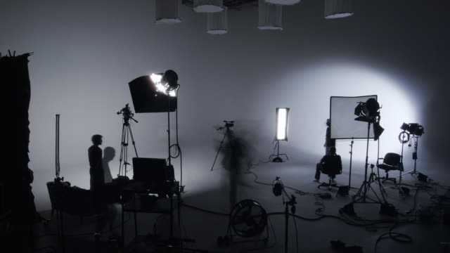 Soundstage shoot timelapse  camera photographic equipment stock videos & royalty-free footage