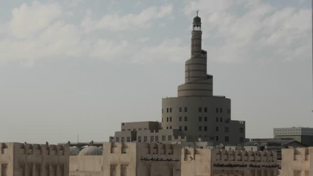moschea souq waqif - souk video stock e b–roll