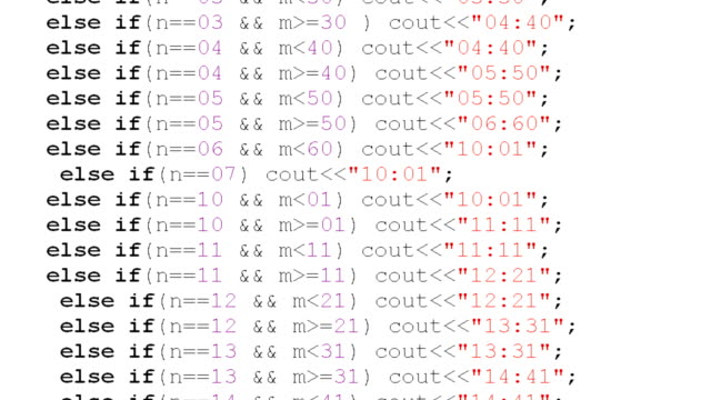 source code on the monitor screen. - kodować filmów i materiałów b-roll