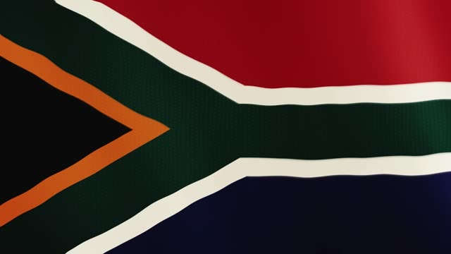 South Africa flag waving animation. Full Screen. Symbol of the country video