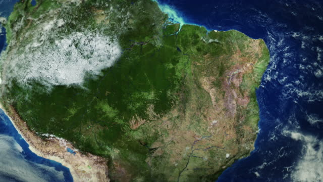 South America seen from space. video