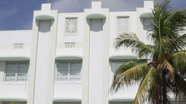south beach art deco - art deco architecture stock videos & royalty-free footage