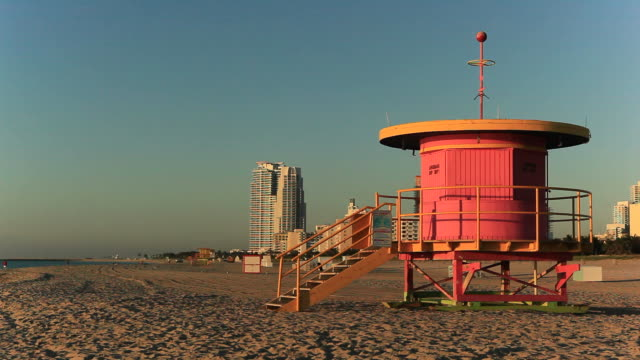 South Beach lifeguard huts video