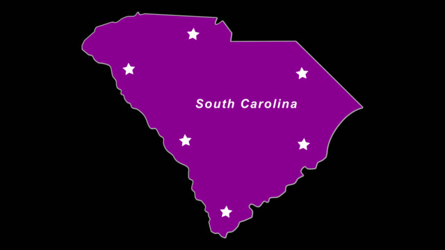 Purple State Map.South Carolina As Purple State Election Map Stock Video More Clips