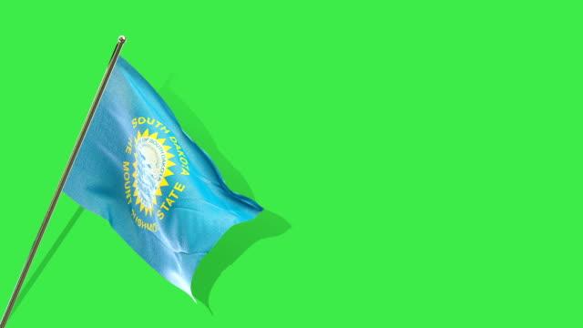 South Dakota flag rising