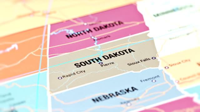 vidéos et rushes de dakota du sud des états des é.-u. - nord