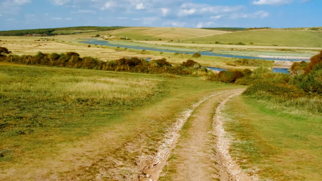 south downs national park, sussex, england, uk - south downs video stock e b–roll