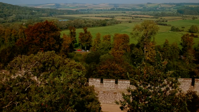south downs national park, west sussex, england, uk - south downs video stock e b–roll