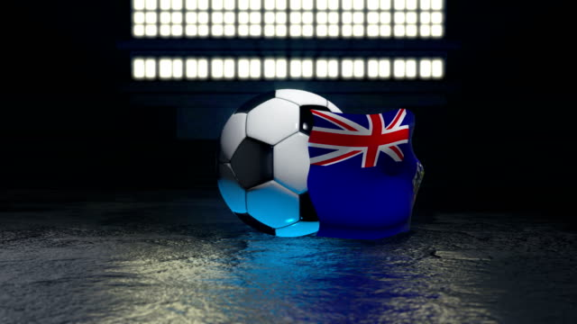 South Georgia and the South Sandwich flag flies around a soccer ball South Georgia and the South Sandwich flag flies around a soccer ball revolving around its axis south georgia and the south sandwich islands stock videos & royalty-free footage