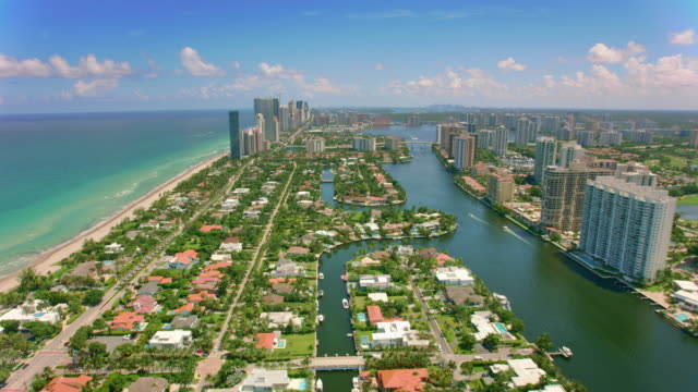 AERIAL South Island and Golden Beach in Florida