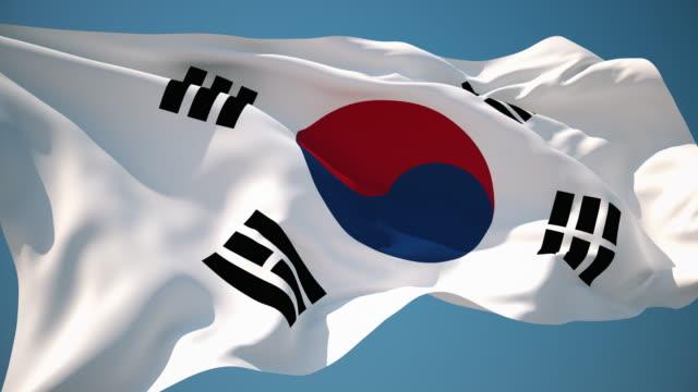 4K South Korea Flag - Loopable video