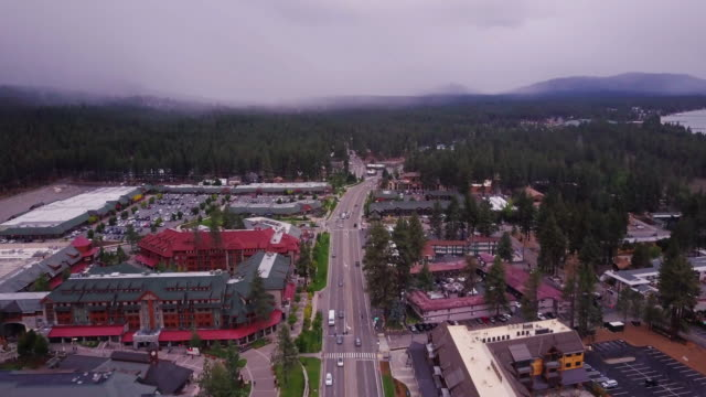 South Lake Tahoe, California - Aerial View