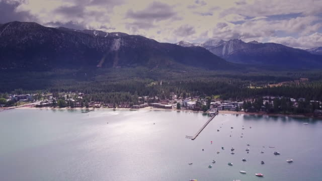 South Lake Tahoe in Autumn - Aerial View