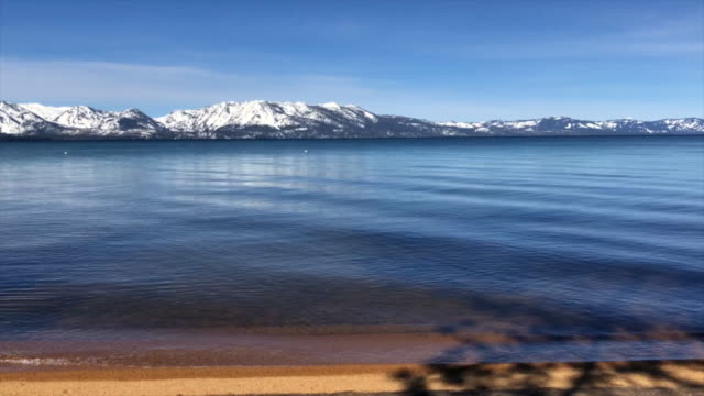 South Lake Tahoe with the mountains in the Spring