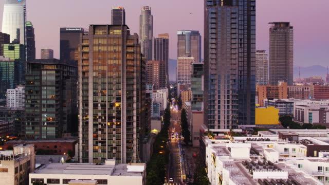 South Park, DTLA at Sunset - Aerial Shot video