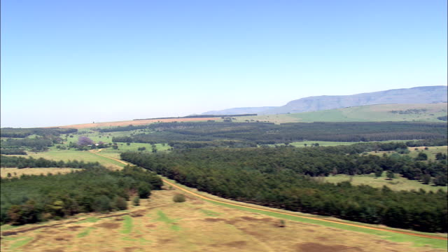 South West Corner Of Swaziland  - Aerial View - Mpumalanga,  South Africa video
