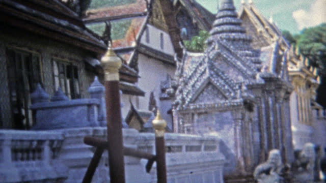 singapore 1973: southeast asia temple architecture buildings statues and icons. - vintage architecture stock videos & royalty-free footage