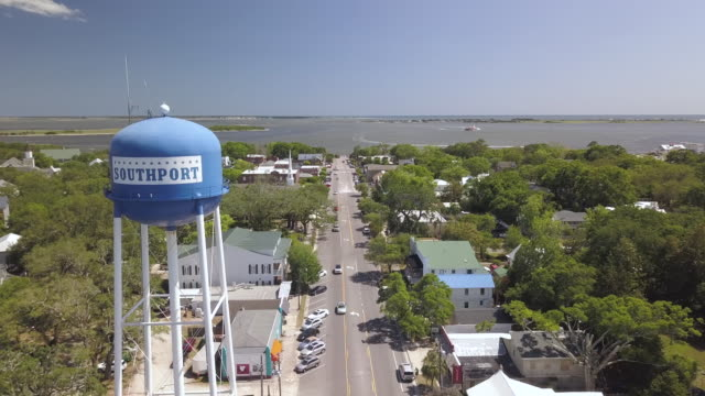Southport, NC, USA An aerial view of Southport, NC, USA, the setting for the 1997 film