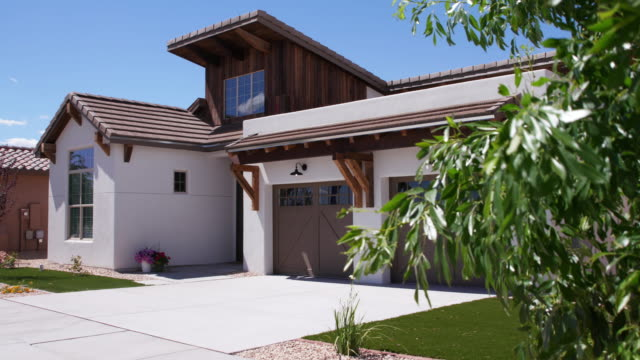 Southwest White Home Exterior Rising Daytime video