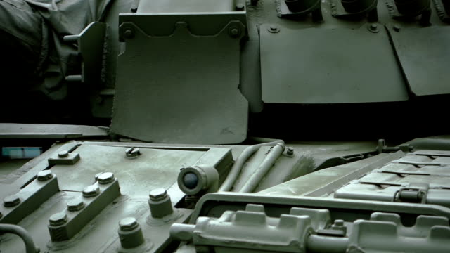 Soviet engineering vehicle turret and armor face video