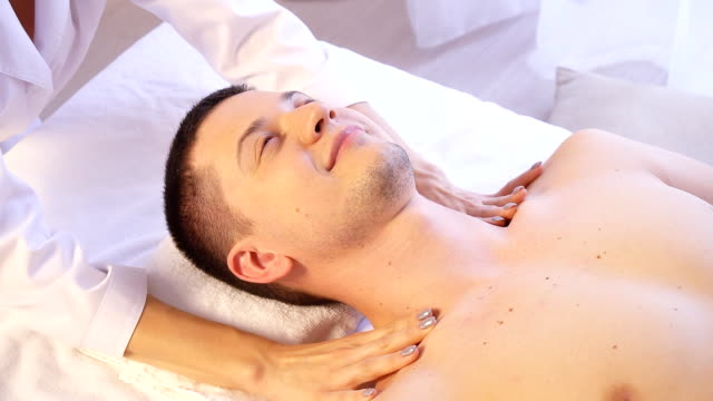 Spa massage for man health video