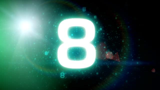 spazio conto alla rovescia - numero video stock e b–roll
