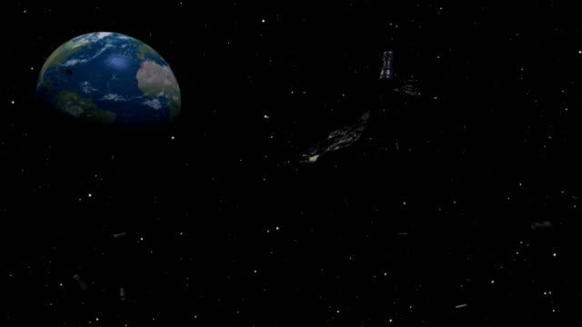 space junk - in rovina video stock e b–roll