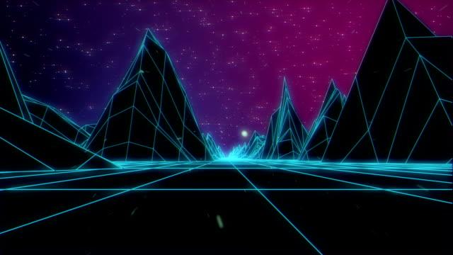 Space landscape video