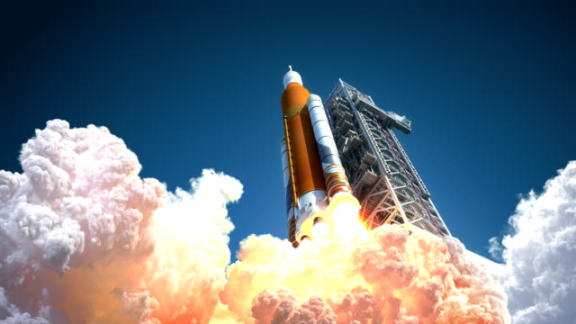 4K. Space Launch System Takes Off.