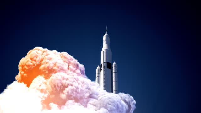 Space Launch System Takes Off Space Launch System Takes Off. 3D Animation. space exploration stock videos & royalty-free footage