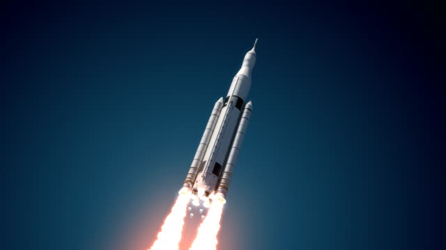 4K. Space Launch System Takes Off. video