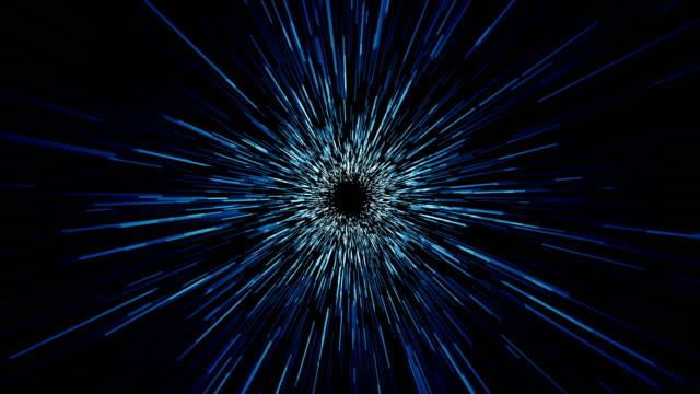 vídeos de stock e filmes b-roll de space lines tunnel seamless loop - imagem manipulada