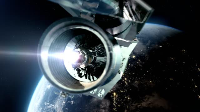 Space Research. Orbiting telescope video