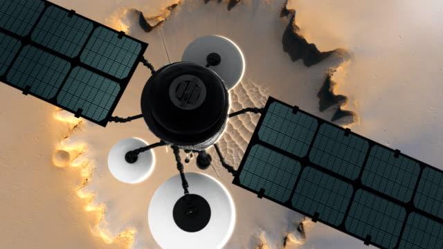 Space Research. Satellite orbiting near Mars video