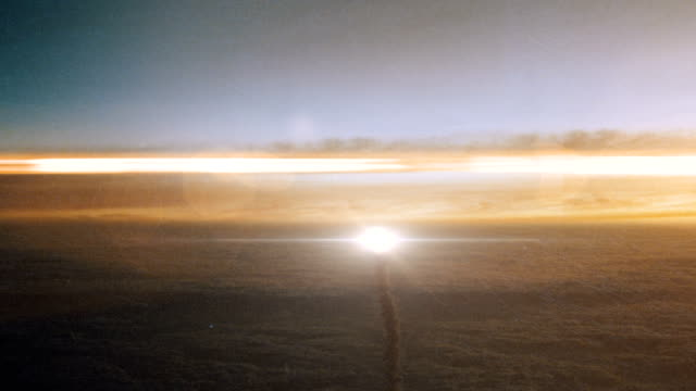 Space Rocket Launching Into Space Through the Clouds at Sunset video