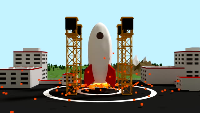 Space rocket take off video