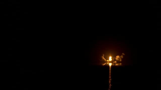 space shuttle launch night nasa video